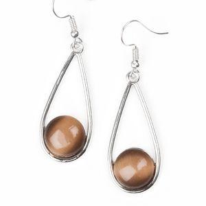 Brown earrings paparazzi